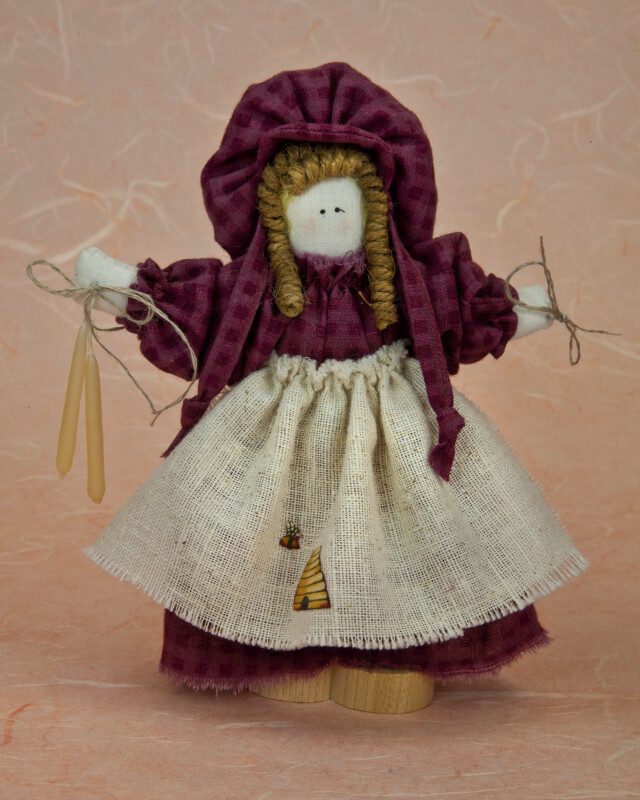 Utah Pioneer Collector's Doll Made with Stuffed Material (Full View)