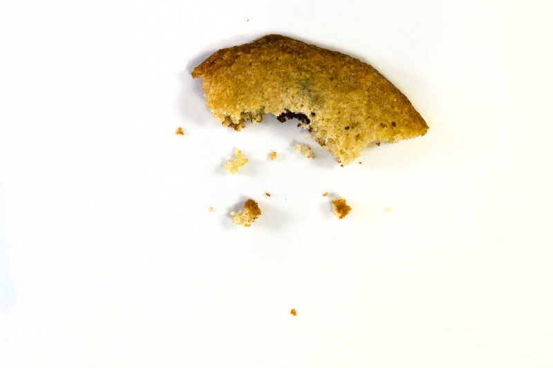 Vanishing Cookie with 5 Bites