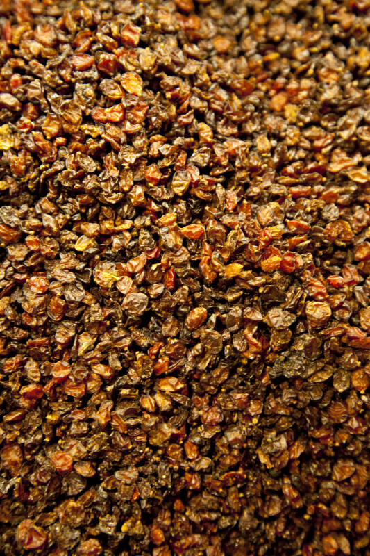 Various Raisins at the Spice Bazaar in Istanbul, Turkey