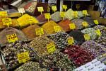 Various Teas at the Spice Bazaar in Istanbul, Turkey