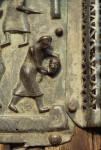 Verona, San Zeno, bronze doors, beheading of John the Baptist