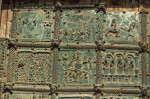 Verona, San Zeno, bronze doors, first six panels of the Infancy and Public Life of Jesus