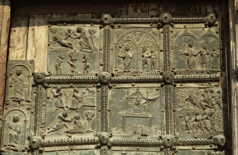 Verona, San Zeno, bronze doors, first six panels of the Old Testament, Scenes from Genesis