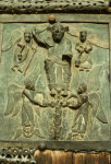 Verona, San Zeno, bronze doors, Second Coming of Jesus