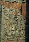 Verona, San Zeno, bronze doors, St. Michael and the dragon