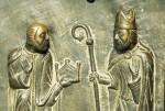 Verona, San Zeno, bronze doors, St. Zeno and Emperor Gallienus