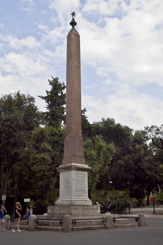 Vertical Monument at the Villa Borghese Gardens