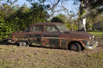 Very Old, Rusted Automobile