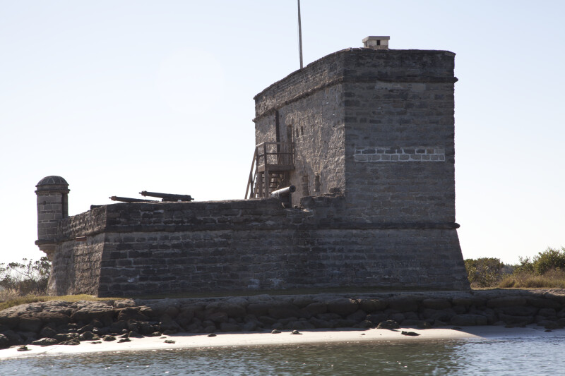 View Eight of Fort Matanzas, from the East and Shoreline of Matanzas River