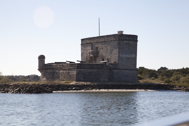 View Four of Fort Matanzas, from the Southeast and Shoreline of Matanzas River