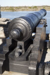 View of a Cannon  Aimed at the Matanzas River Inlet, Close-up