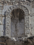 View of a Niche on the Alamo Exterior