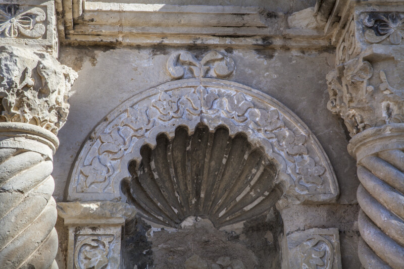 View of a Niche's Upper Portion at the Alamo