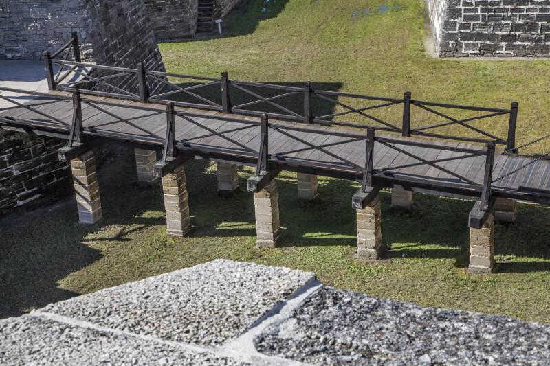 View of Castillo de San Marcos' Main Drawbridge from the Fort's Terreplein