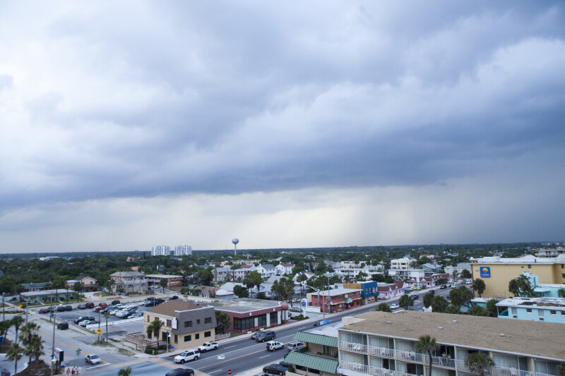 View of Daytona Area before a Storm