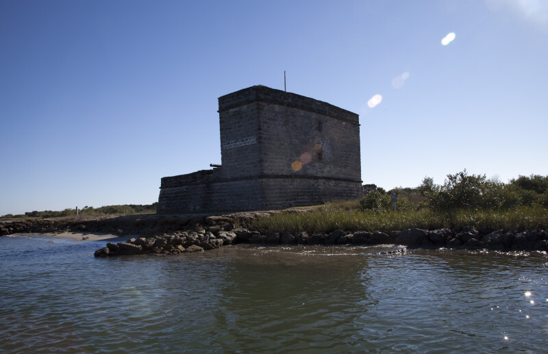 View of Fort Matanzas as seen from the Northeast