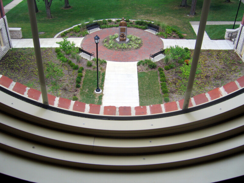 View of McGuffey Memorial from McGuffey Hall, Miami University