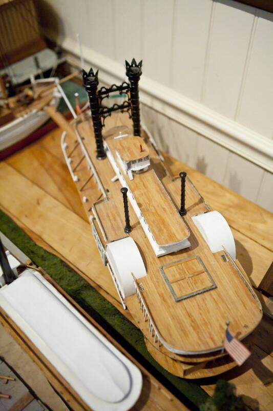 View of Model Steamship