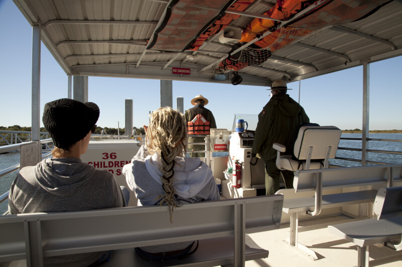 View of Passengers on the Ferry to Fort Matanzas