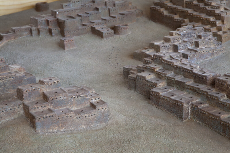 View of Pueblos as Seen on The Model of The  Quarai Ruins