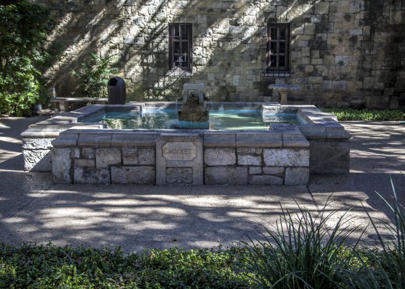 View of the Fountain at the Alamo