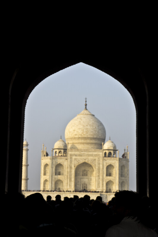 View of the Taj Mahal from the Great Gate