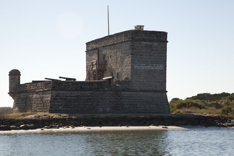 View Seven of Fort Matanzas, from the East and Shoreline of Matanzas River
