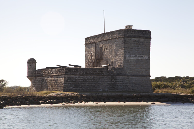 View Six of Fort Matanzas, from the east and Shoreline of Matanzas River