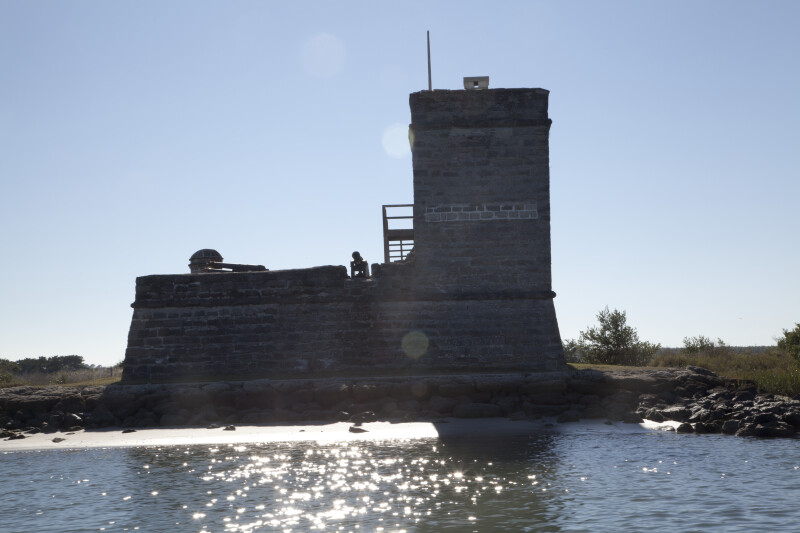 View Ten of Fort Matanzas as seen from the East and Shoreline of Matanzas River