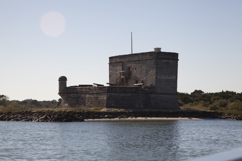 View Three of Fort Matanzas, from the Southeast and Shoreline of Matanzas River Inlet