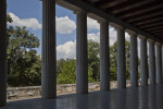 View through the Colonnade of the Stoa of Attalos