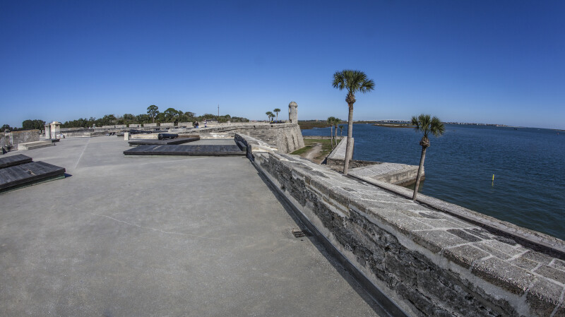 View Towards Northeast Bastion of Castillo de San Marcos from Southeast Bastion