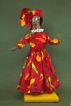 Virgin Islands Hand Made Doll by Gwendolyn Harley in Market Woman Dress (Full View)