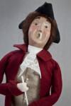 Virginia Colonial Doll with Tri-Corner Black Felt Hat and Plastic Pipe (Three Quarter Length)