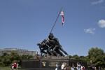 Visitors at Marine Corps War Memorial