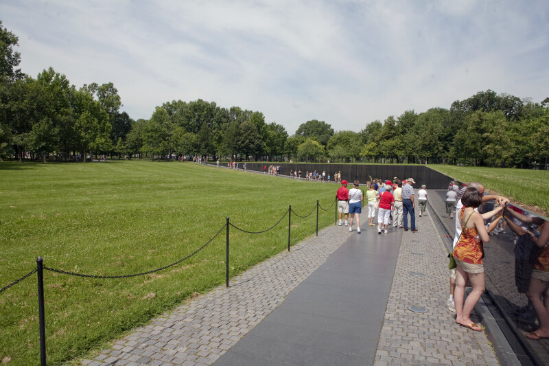 Visitors at Vietnam Veterans Memorial