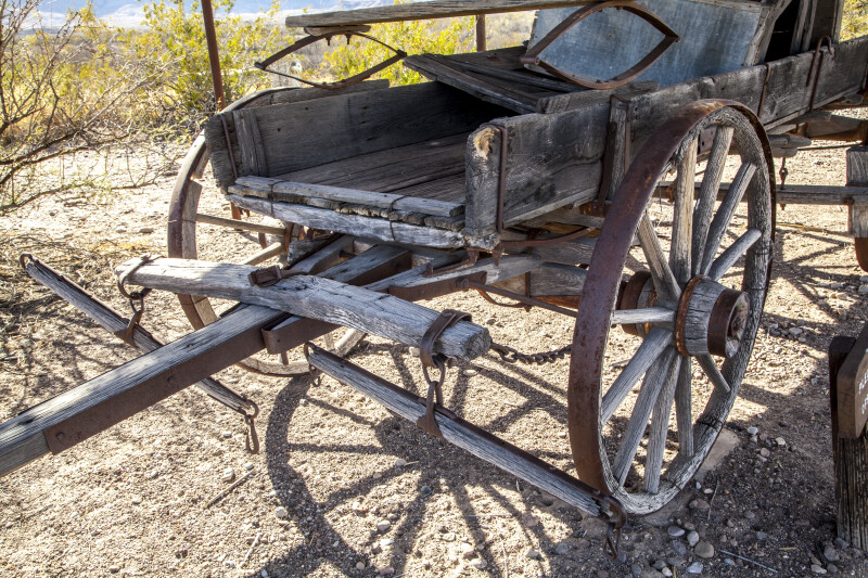 Wagon and Wagon Hitch Near Castolon Store