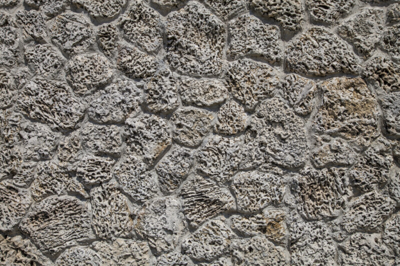 Wall Made of Cemented Coral
