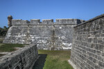 Wall of Castillo de San Marcos' Southwest Corner