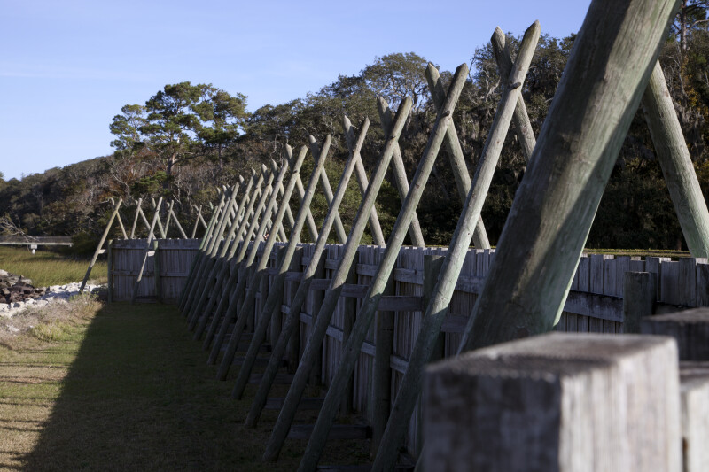 Wall of the Reconstructed Fort Caroline