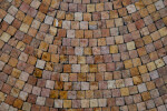 Warm Colored Stones in a Mosaic