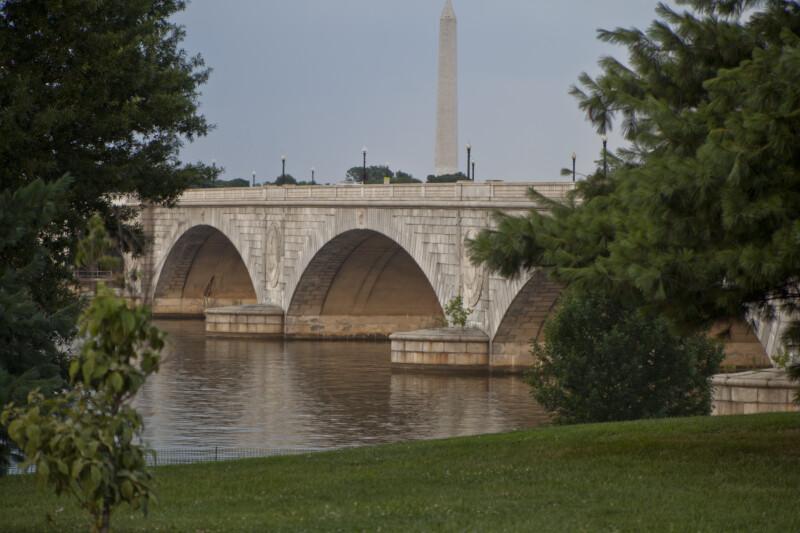 Washington Monument and Arlington Memorial Bridge