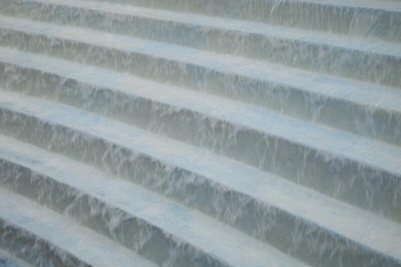 Water Flowing Down Steps