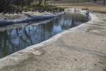 Water Flowing in the Espada Aqueduct