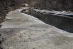 Water Flowing Through the Espada Aqueduct