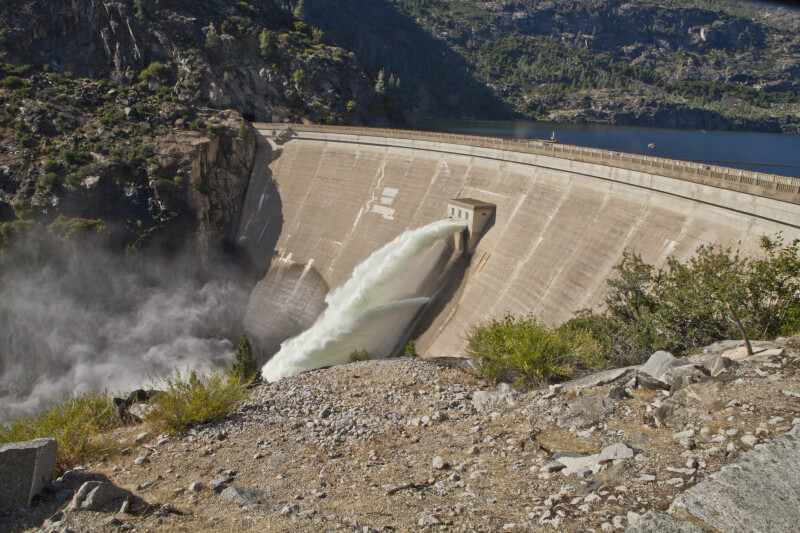 Water Issuing from the Face of O'Shaughnessy Dam