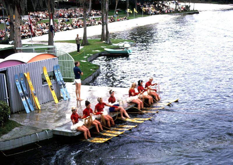 Water Skiers on Dock