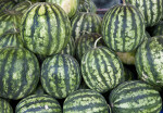 Watermelons at an Outdoor Market in Kusadasi