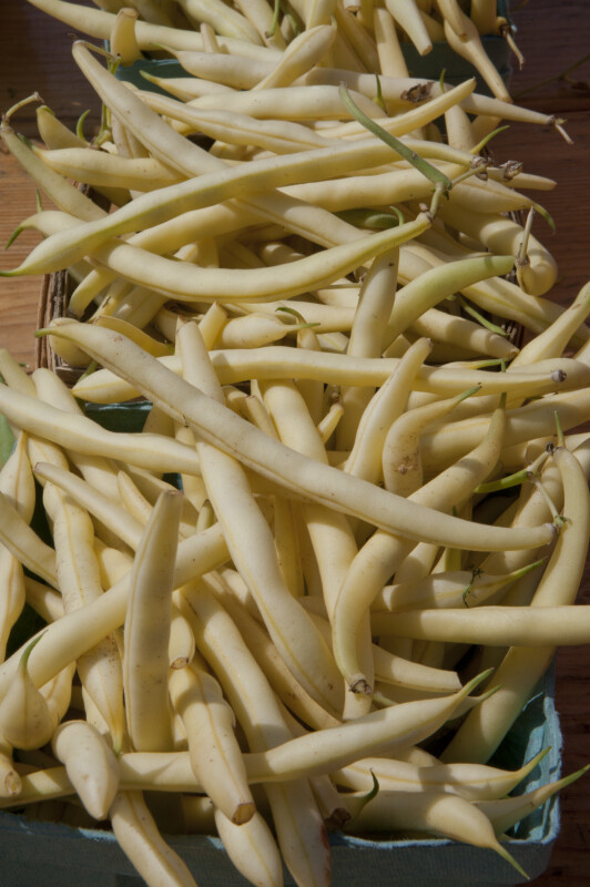 Wax Beans at a Farmer's Market in Monroeville, Pennsylvania