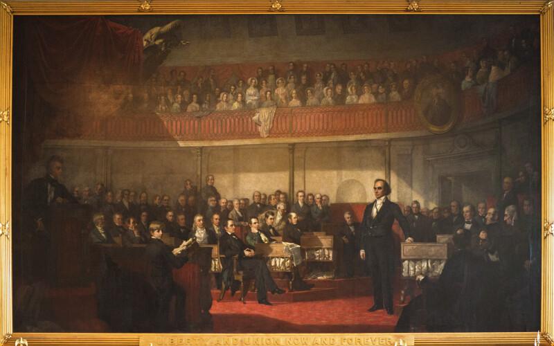 Webster-Hayne Debate Painting